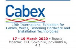 Rusya / Moskova CABEX 19. Uluslararası Kablo,Tel,Bağlantı ve Donanım Teknolojileri Fuarı 17-19 Mart 2020